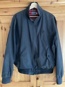 Fred Perry Black Harrington Jacket - Made In England - Size 42 - Mod Skinhead