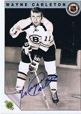 Wayne Carleton 1992 Ultimate Autograph #47 Bruins