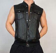 MEN'S FAUX LEATHER VEST MEDIUM