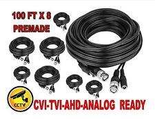 black color 4Rolls x50FT PREMADE SIAMESE CABLE FOR CCTV CAMERA