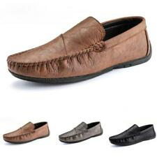 Mens Leisure Leather Shoes Driving Moccasins Pumps Slip on Loafers Flats Comfy L
