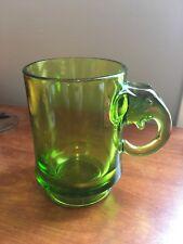 Rare Political Imperial Glass Ohio Green Elephant Mug Ford Rockefeller 1974