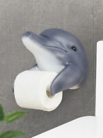 Bathroom Resin Wall Mounted Dolphin Hanger Toilet Roll Paper Holder Holding Case