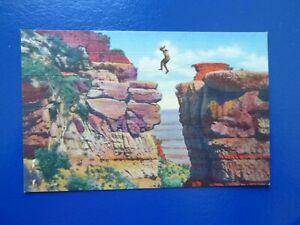 Leap for Life, Grand Canyon, Arizona, Linen Era Postcard