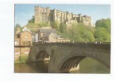 Postcard Durham Castle and Framwellgate Bridge postmark 1987   (A40)