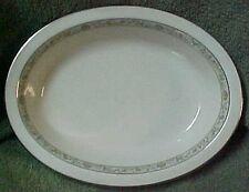 """Lenox Springdale Platinum Oval Vegetable Serving bowl 9.75"""" x 7.5"""" x 2"""""""