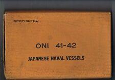 Japanese Naval Vessels - ONI 41-42.