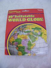 "Vintage 16"" Inflatable World Globe"