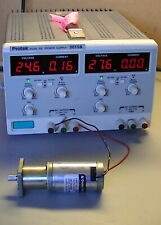 PROTEK DUAL DC POWER SUPPLY 3015B 0-30 vdc (POWER ON, and with small motor test)