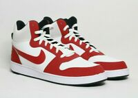 Nike Court Borough Mid Basketball Shoes Men's White red size 15 [838938-101]