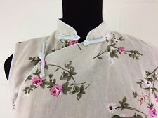 Cuitiniao Chinese Cheongsam Linen Long dress Asian XL