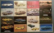 1970's CAR ADVERTISING DEALERSHIP DEALER Postcard (LOT of 16) Chevy & Pontiac
