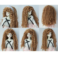 Doll Curly Wig Brown Hairpiece for 1/4 BJD DOD  DD Hair Making Supplies