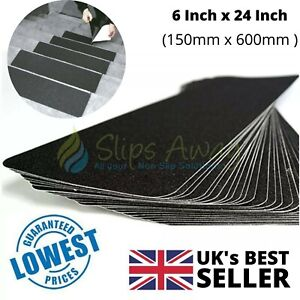 Anti Non Slip Tape Black Strong Adhesive Weatherproof Treads Steps Stairs Ramps