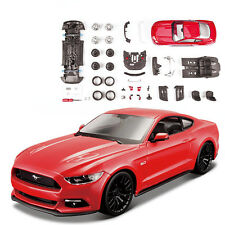 Maisto 1:24 Ford Mustang GT Diecast Assembly Line Metal KIT Model Car Red New