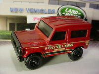 2017 Matchbox LAND ROVER 90 ninety☆red;PAYNE & SONS CONSTRUCTION☆Loose Matchbox