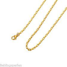 L/P Edelstahl Goldkette Venezianerkette Boxkette Damenkette Herrenkette 55cm 2mm