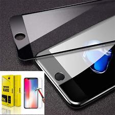 Tempered Glass Screen Protector per Apple iPhone 6 / 6S black vetro temperato 9H