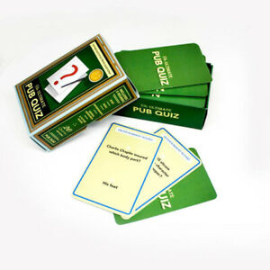 Ultimate Pub Quiz Cards Questions & Answer Trivia Party Games Novelty Fun Family