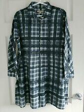 Women's Burberry Brit shirt navy blue blouse tunic size UK M BNWOT