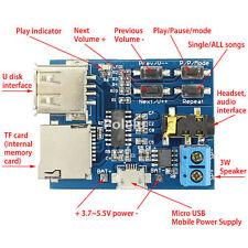 MP3 Format Lossless Decoder Amplifier Board TF Card/U Disk Audio Player Module