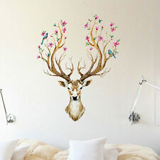 Sika Deer Flower Bird Tree Removable Wall Sticker Mural Decal Home Decor Eager