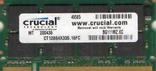 1GB Toshiba Satellite/Dynabook/Equium/Qosmio/Tecra PC2700 DDR/DDR1 Laptop Memory