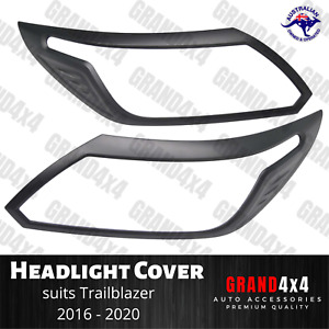 Matte Black Head Light Trim Cover to suit Holden Colorado Trailblazer 2016-2020