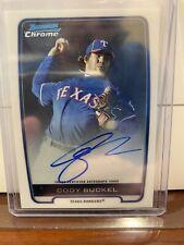 Cody Buckel 2012 Bowman Chrome Prospect Autograph #CBU Rangers Topps Rookie Card