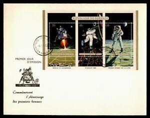 DR WHO 1969 BURUNDI FDC SPACE MOON LANDING CACHET S/S STRIP  Lf94609