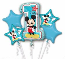 Baby Mickey Mouse First Birthday Balloon Bouquet Party Decoration Supplies 1st