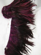 Feather Trim Saddle Hackle Furnace dyed Burgundy per yard