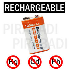 1 BATTERIE 9V LI-ION 1000MAH RECHARGEABLE 6LR61 ACCU BATTERY PILE ACCUS 9 VOLTS