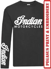 Indian Motorcycles ( Logo x 2) - Long Sleeve Lightweight Summer T-shirts