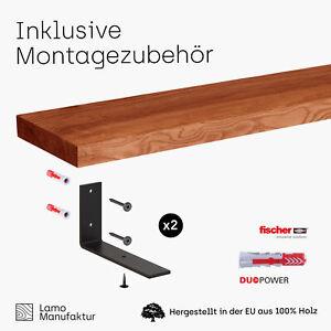 Regalbrett Wandregal Massivholz Baumkante Holzregal Wandboard Holzplatte