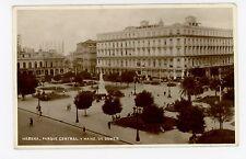 Habana RPPC Parque Central—Antique Photo HAVANA Rare Antique Cuba STAMP 1936