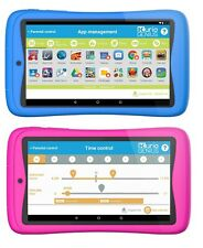 "KURIO TAB CONNECT 16GB + 32GB 7"" Kids Android Tablet Apps Bluetooth - Blue/Pink"