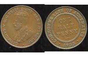AUSTRALIE  1/2  penny 1933