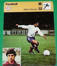 FOOTBALL ALAIN GIRESSE GIGI FC GIRONDINS BORDEAUX EQUIPE FRANCE