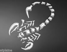 Sticker relief 3D SCORPION chromé - Style BIKER HARLEY