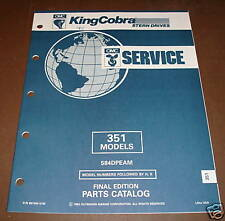 OMC King Cobra Stern Drives 351 Parts Catalog ´92