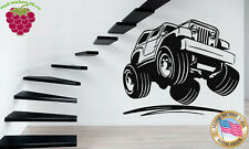 Wall Stickers Vinyl Decal  Jeep Army Truck Car Muscle z643