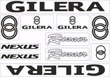Gilera Runner Nexus Motorcycle Decals Stickers Bike Graphic Set Vinyl Logo Black
