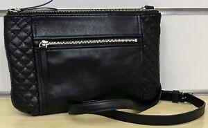 Vera Bradley Leather Small Carryall Crossbody in Black