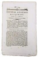 Journal de la Révolution Française 1792 Journal Général de l'Europe Étampes