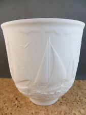 1997 Lladro Collector's Society Sailing the Seas 17657 Votive Cup Sailboat Matte