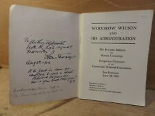 More details for signed copy of homer cummings address to the democratic national convention 1920