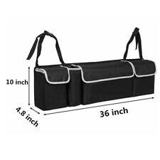 Parts Accessories Black High Capacity Multi-use Car Seat Back Organizers Bag