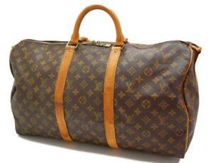 Authentic LOUIS VUITTON  MONOGRAM  KEEPALL 50 DUFFLE BAG VI873 0420a
