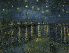 "Starry Night Over The Rhone by Vincent Van Gogh, 12.25""x16"", Canvas Print"
